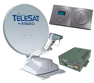 Teleco schotel, schotelantenne, satellietschotel, tv kijken op de camping